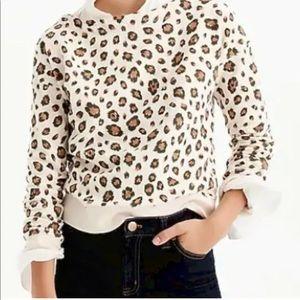 J. Crew Leopard 🐆 Print Sweatshirt